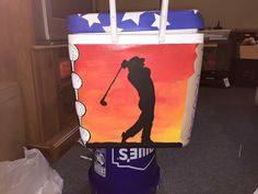 Golf side painted cooler