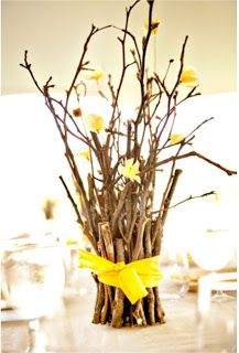 Regardless of the type of wedding that needs planning, it will more than likely need flowers. A small informal wedding or a huge fancy affair will both need their share of flowers. You can display your flowers with a soft natural light, with candles or. Branch Centerpieces, Wedding Centerpieces, Wedding Table, Diy Wedding, Rustic Wedding, Wedding Decorations, Wedding Ideas, Wedding Backyard, Cheap Table Centerpieces