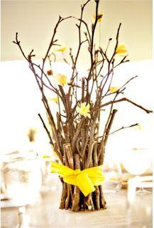 Galhos secos para centro de mesa | Festas | Madame Inspiração