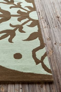 Allie Wool Rug - Brown/Light Blue - 5ft. x 7ft. 6in. by Allie Rugs by Filament on @HauteLook