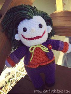 The Joker (Batman) Amigurumi - Free Crochet Pattern by Heart Hook Home.