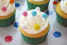 Polka dot cupcakes - easy and cute