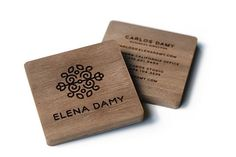 13 Insanely Cool Business Cards #refinery29  http://www.refinery29.com/unique-business-cards#slide-3  Stand out in a sea of run-of-the-mill paper with square, wood cards à la floral and event designer Elena Damy. Designed by Mattson Creative, there's no way these gems will get lost at the bottom of a potential client's purse.