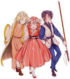 Soo-Won, Yona and Hak   of Akatsuki no Yona.  Tan lindos cuando eran niños >-< Este fanart es perfecto :)