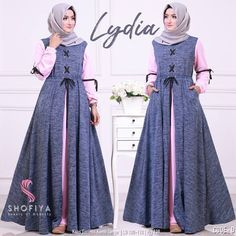 Trendy diy clothes no sewing dresses moda ideas Batik Fashion, Abaya Fashion, Fashion Dresses, Abaya Mode, Mode Hijab, Abaya Designs, Muslim Women Fashion, Islamic Fashion, Hijab Mode Inspiration