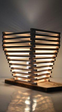 Unique Wooden Lamp #artesaniasrecicladas