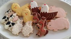Biscoitos decorados fazendinha by Vanilla Art Cookies