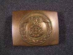 Early one piece brass German SA Belt Buckle, £65