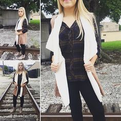 Ol-love plaid top $35 and suede vest $45 #boutique #womensfashion #fashion #instagood