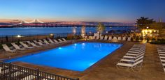 The pool at the Hyatt Regency Newport Hotel and Spa in Rhode Island