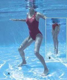 """The most important factor for improving cardiorespiratory fitness (cardio or CR) is the intensity of the workout. Changes in CR fitness are directly related to how """"hard"""" an aerobic exercise is performed. Water Aerobics Workout, Water Aerobic Exercises, Swimming Pool Exercises, Pool Workout, Water Aerobics Routine, Pool Noodle Exercises, Swimming Tips, Total Body, Fitness Home"""