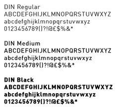 din type specimen