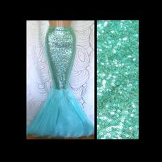 High Waisted Sequin Sexy Mermaid Skirt Costume- Aqua Blue by SPARKLEmeGORGEOUS on Etsy https://www.etsy.com/sg-en/listing/454397012/high-waisted-sequin-sexy-mermaid-skirt
