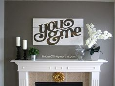 You & Me sign via @etsy and @houseofheps  http://www.etsy.com/listing/96432743/you-me-distressed-vintage-style-custom