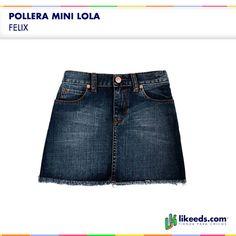 Pollera Mini Lola de Felix #Moda #Folk #Niñas Para ver talles y comprar ¡Hacé click en la imagen!
