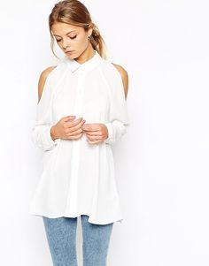 ASOS Cold Shoulder Blouse ($51)