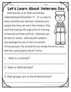 Veterans Day Coloring Page FREE