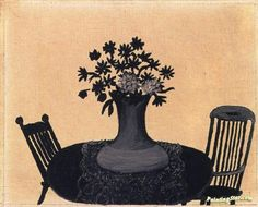 Table and Two Chairs (unfinished) Artwork by Horace Pippin Oil Painting &…