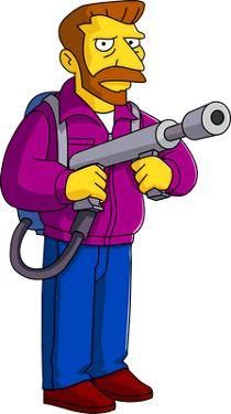 Hank Scorpio. My husband's favorite Simpsons character!