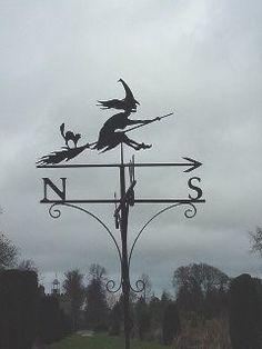 Witch weather vane