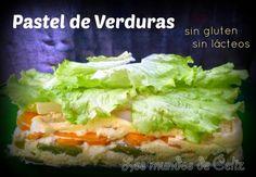 Pastel de verduras sin gluten ni lacteos