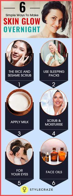 If you are pressed for time and are looking at options to get a glowing skin overnight, here are a couple of tried and tested natural ways for glowing skin that you could try.
