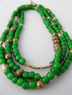 African Nile Necklace & Bracelet -