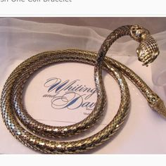 """Bundled.  1950s Whiting & Davis Oromesh Necklace VTG RARE 1950s  GOLD MESH SNAKE WRAP 38"""" BELT LARIAT NECKLACE WHITING & DAVIS   Fabulous and in excellent vintage condition. Total measurement is 38"""" from end to end.  These are rare and hard to find. I searched for this one for 7 years. But it's time to pass it on to another who will love her.   High quality workmanship and materials, very detailed. Bright, Shiny metal mesh coil.  Can be worn on waist or as a necklace or wrap around bracelet…"""