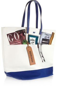 Anya Hindmarch | Homework printed canvas tote