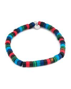 Tateossian Mixed Semi Precious Disc Bead Bracelet