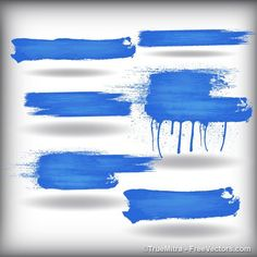 Brush Strokes Vectors