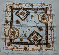 Vintage tassels silk scarf - for sale on my vintage blog