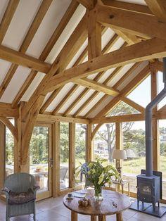A wonderful light filled #oakframed #gardenroom