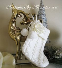 Cable Knit Christmas Stocking by Keepsakes By Katherine