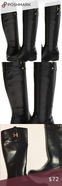 Girls BNWT Black Girls Patent Bow Knee High Boots BH