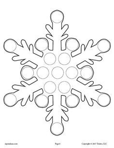 FREE Snowflake Do-A-Dot Printable Plus 9 More Winter Do-A-Dot Printables! These dot painting coloring pages are great for toddler age, preschool, and kindergarten to practice fine motor skills and more! Get all 10 Winter Do-A-Dot Worksheets here --> https://www.mpmschoolsupplies.com/ideas/7885/10-free-winter-do-a-dot-printables/