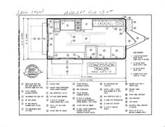 sample drawing of a mobile kitchen food truck start with our base trailer brake wiring diagram food trailer schematics #27