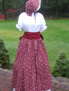 Prairie Pioneer Civil War Colonial Victorian Tea Day Dress 4 Pc Frontier Reenactment S Womens