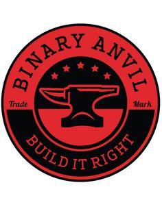 Binary Anvil Logo, Primary Combination Mark. This version is my hands down favorite. We build great things from 1's and 0's.