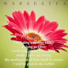 Psalms 104:33-34 (KJV) I will sing unto the LORD as long as I live: I will sing praise to my God while I have my being. My meditation of him shall be sweet: I will be glad in the LORD. Let the sinners be consumed out of the earth, and let the wicked be no more. Bless thou the LORD, O my soul. Praise ye the LORD. #MARANATHA