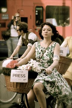 This WILL be me in the summer! I don't care if I'm wearing a dress...I'll even put one of my pets in the basket.