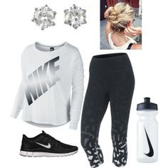 A fashion look from February 2014 featuring NIKE t-shirts, NIKE activewear pants und NIKE shoes. Browse and shop related looks.