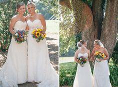 Elicia & Karyn's rustic, DIY Maryland farm wedding at Woodlawn Farm Bed & Breakfast | Images: Sea Starr Arts