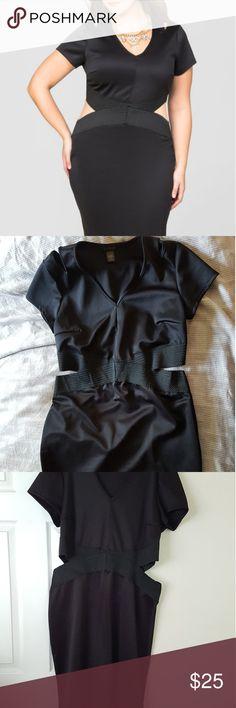Ashley Stewart Cut out scuba dress Never worn, without tags. Cut out scuba dress size 18/20 Ashley Stewart Dresses