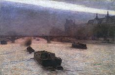 Evening on the Seine - Aleksander Gierymski 1893  Cozyhuarique