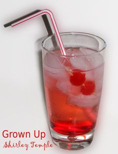 Grown Up Shirley Temple - though I would make it with Diet Cherry 7-up instead of seltzer!!!!