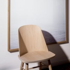 Menu Synnes Dining Chair by Falke Svatun - Wooden chair with curved veneer backing - MenuDesignShop.com