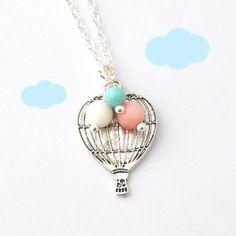 hot air balloon necklace