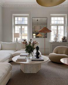 neutral modern living room decor #livingrooms #modernhomedecor #interiors Home Living Room, Living Room Designs, Living Room Decor, Living Spaces, Decor Room, Living Room Interior, Dream Home Design, Home Interior Design, House Design