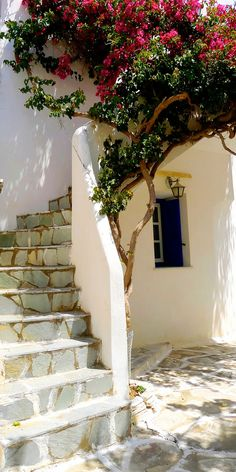 Sidestreet in Old Lefkes, Greece